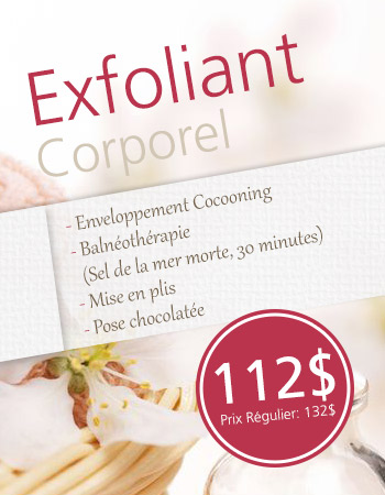 Exfoliant corporel
