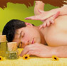 Massage with cream and oils